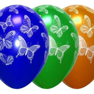№(002) Бабочки металик 14д 70 руб