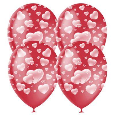 №(032) Сердца красные шары 14д 65 руб